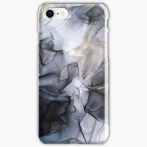 Calm but Dramatic Light Monochromatic Black & Grey Abstract iPhone Snap Case