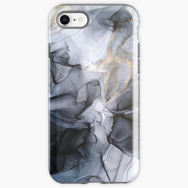 Calm but Dramatic Light Monochromatic Black & Grey Abstract iPhone Tough Case