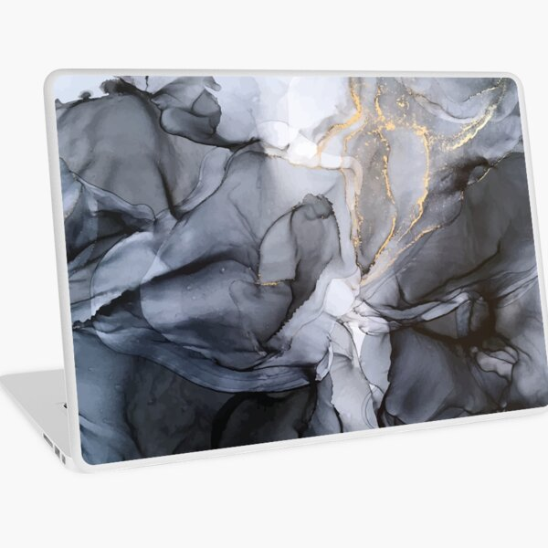Calm but Dramatic Light Monochromatic Black & Grey Abstract Laptop Skin