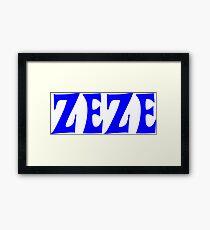 Zeze Blue Framed Print