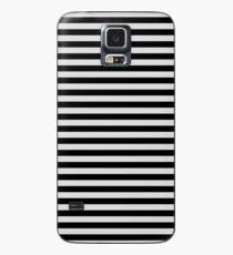 Gainsboro Gray and Black Horizontal Stripes Case/Skin for Samsung Galaxy