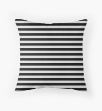 Gainsboro Gray and Black Horizontal Stripes Floor Pillow
