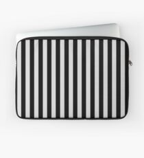 Gainsboro Gray and Black Vertical Stripes Laptop Sleeve