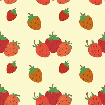The pattern of strawberries by NataliaL
