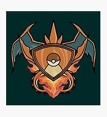 Charizard pokemon shienld Photographic Print