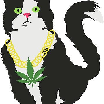 Gato stoner de Plantlifegirl