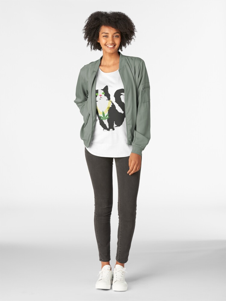 Vista alternativa de Camiseta premium para mujer Gato stoner