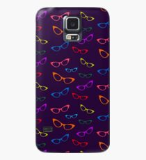 Colorful Cat Eyes Glasses Case/Skin for Samsung Galaxy
