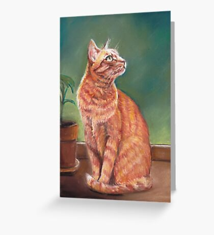 Tiger in the Window Greeting Card