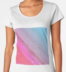 pinks with blue - design lines Women's Premium T-Shirt