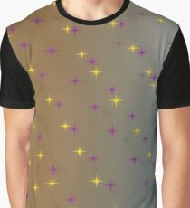 design lights Gold, Blue Graphic T-Shirt