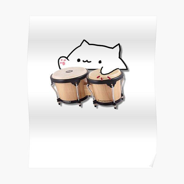 Funny Bongo cat t-shirt & more meme Poster