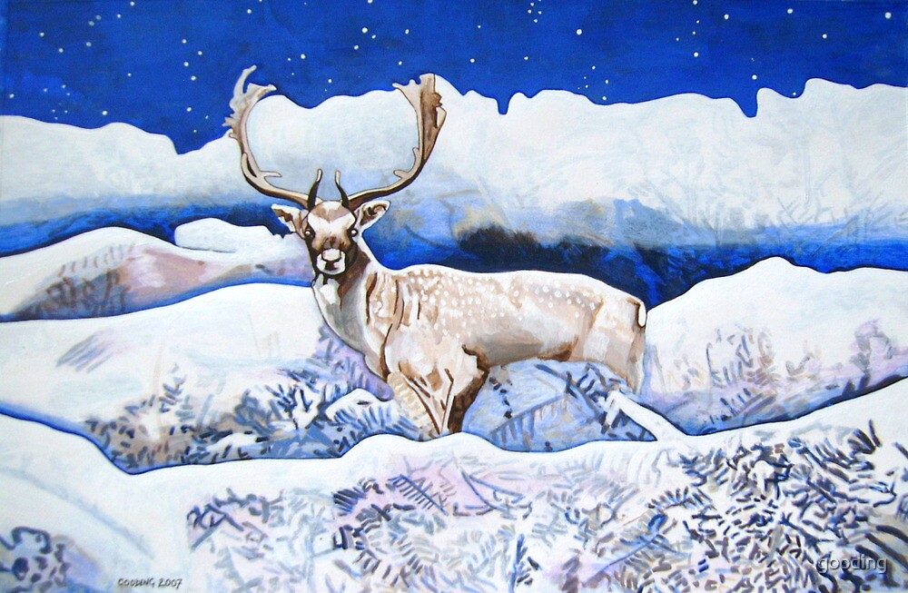 Snow Stag  by gooding