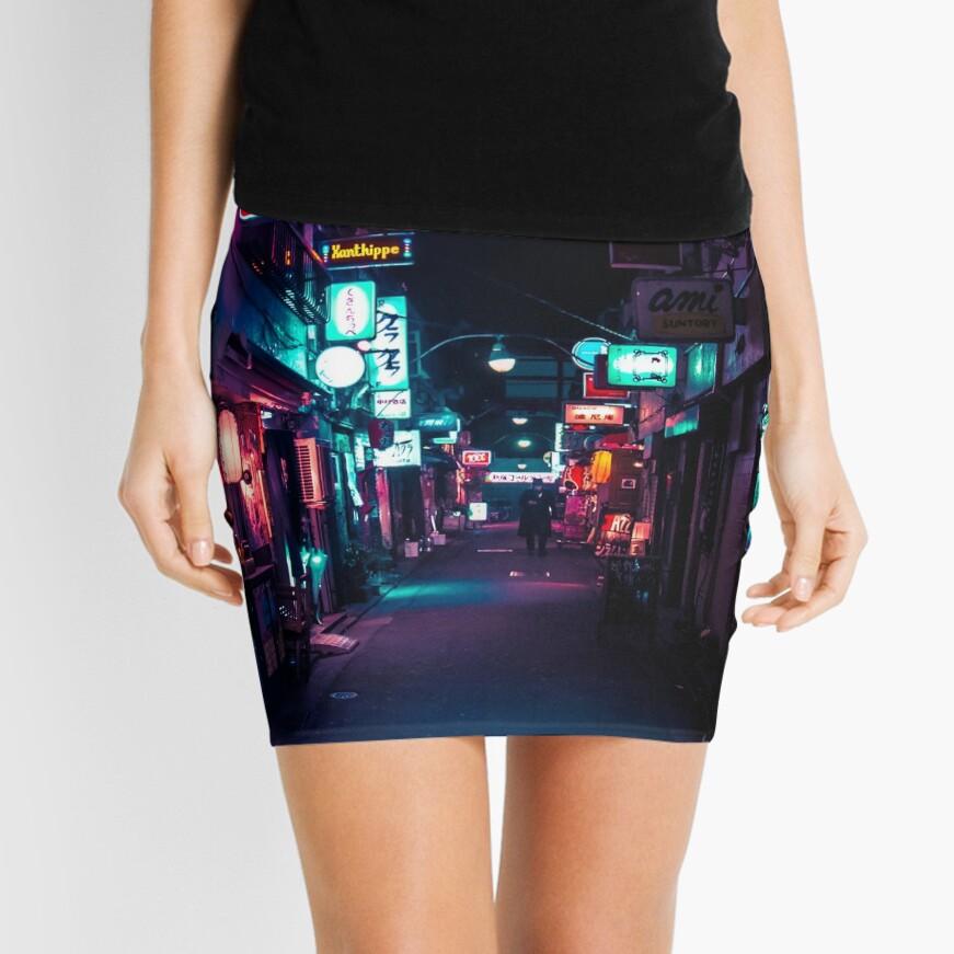 Late Night in Shinjuku's Golden Gai Mini Skirt