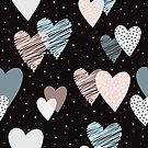 Cute Hearts Pattern by stylebytara