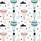 Funny Air Balloon Pattern by stylebytara