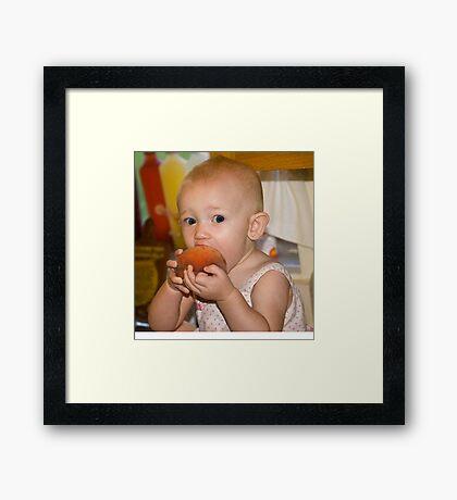 The Peach Thief Framed Print