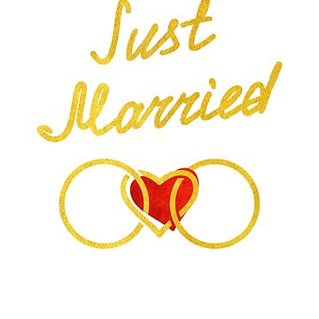 Just Married Honeymoon Pure Gold Wedding Rings by kamal-creations