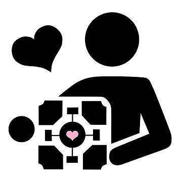 Companion Cube (in black) by cucuy