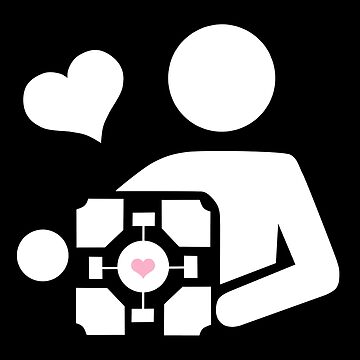 Companion Cube (in white) by cucuy