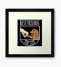 Goldendoodle Best Friends For Life Framed Print