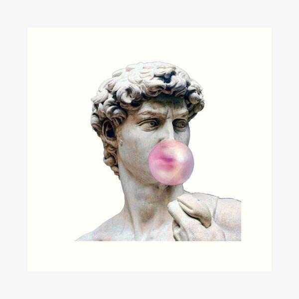 David with bubble gum Art Print