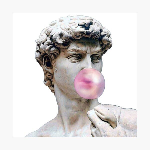 David with bubble gum Photographic Print