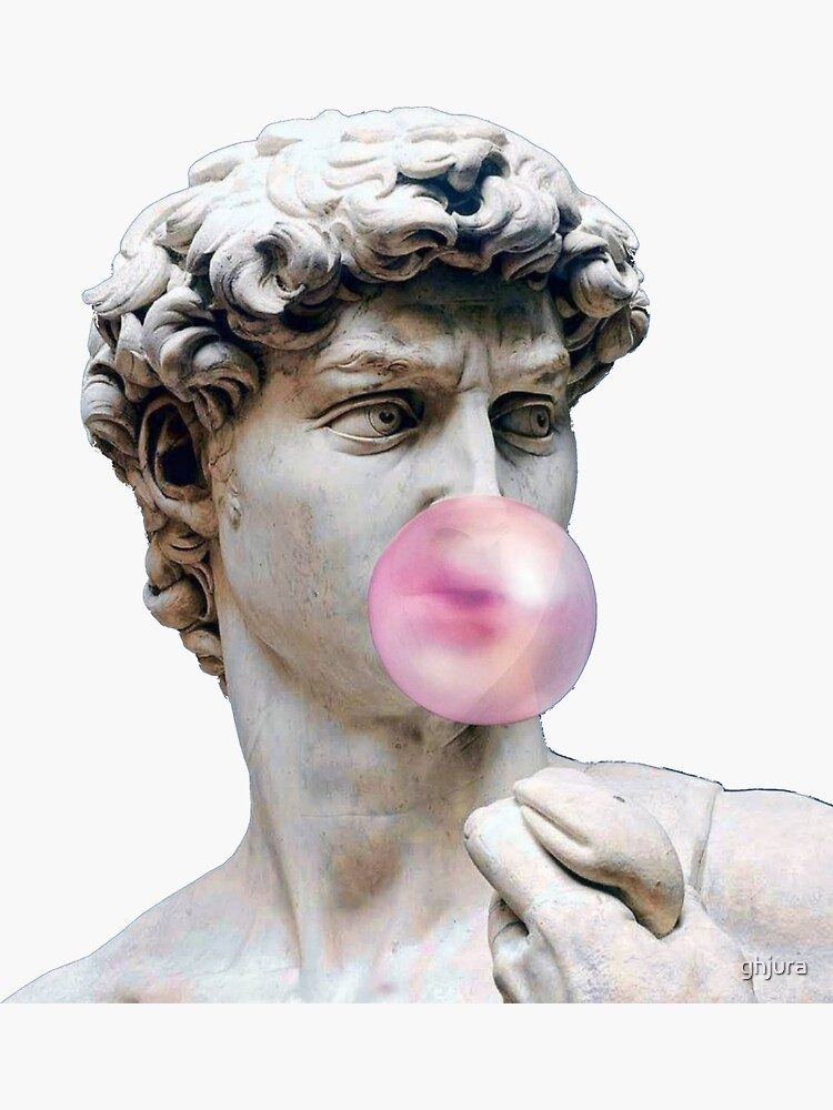 David with bubble gum by ghjura