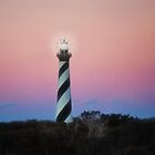 Dawn at Cape Hatteras Light by Kathy Weaver