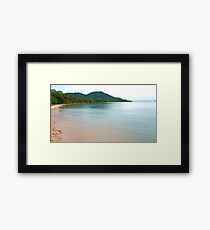Dunk Island Glass,  Framed Print