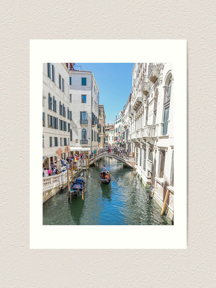Alternate view of Venice bridges and canal, Italy Art Print