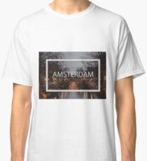 Amsterdam print with text Classic T-Shirt
