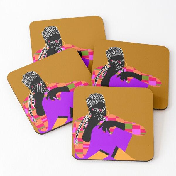 Brown rouge Coasters (Set of 4)