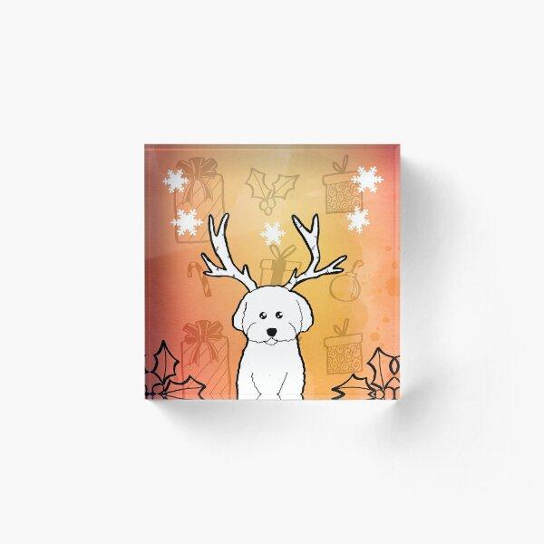 Merry Woofmas Acrylic Block
