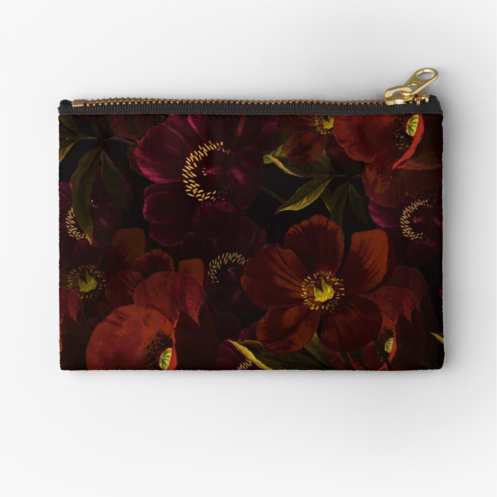 Poppies at night Zipper Pouch