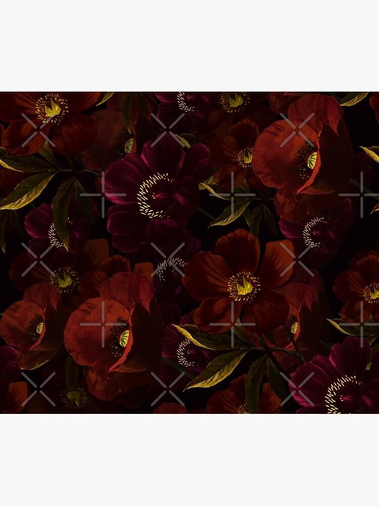 Poppies at night by UtArt