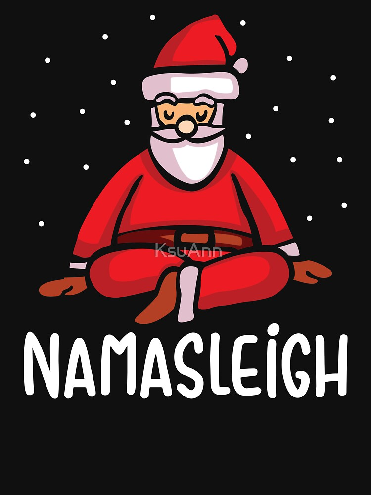 Namasleigh Yoga Funny Christmas Sweater by KsuAnn