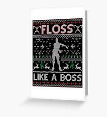 Floss Like A Boss - Ugly Christmas Jumper Greeting Card