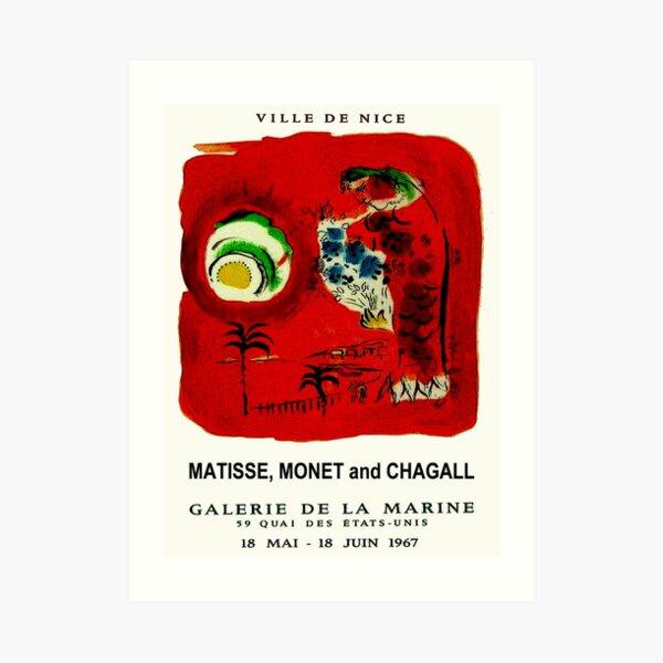 GALERIE DE LA MARINE : Vintage 1967 Art Gallery Advertising Print Art Print