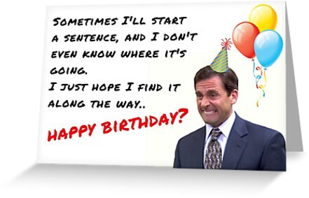 The Office Show Birthday Card Michael Scott Dwight Schrute Meme Greeting Cards Quotes Gifts