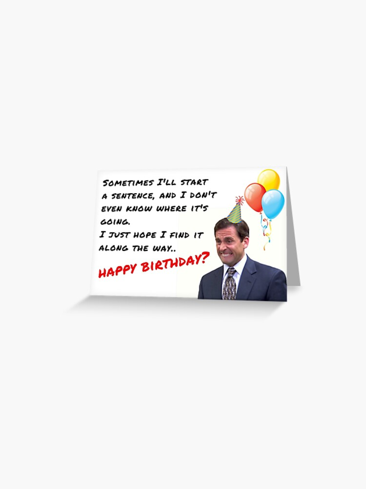 The Office Show Birthday Card Michael Scott Dwight Schrute Meme Greeting Cards
