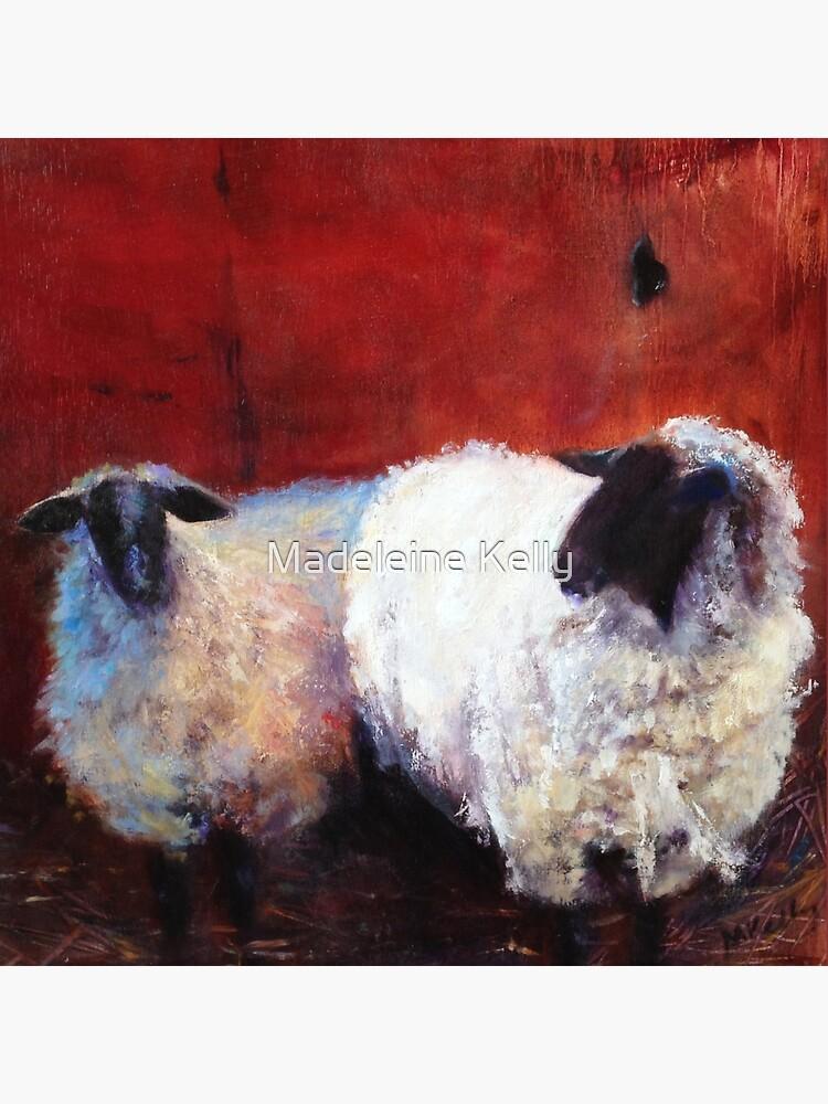 Frick and Frack - Schaf, vom Original Ölgemälde von Madeleine Kelly von MadeleineKelly