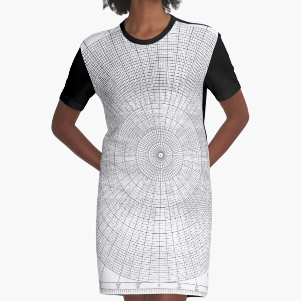 #pattern #abstract #design #shape #illustration #proportion #geometry #art #guilloche #vector #decoration #vertical #circle #geometricshape #inarow #textured Graphic T-Shirt Dress