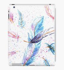 Watercolor Feather Art Pattern iPad Case/Skin