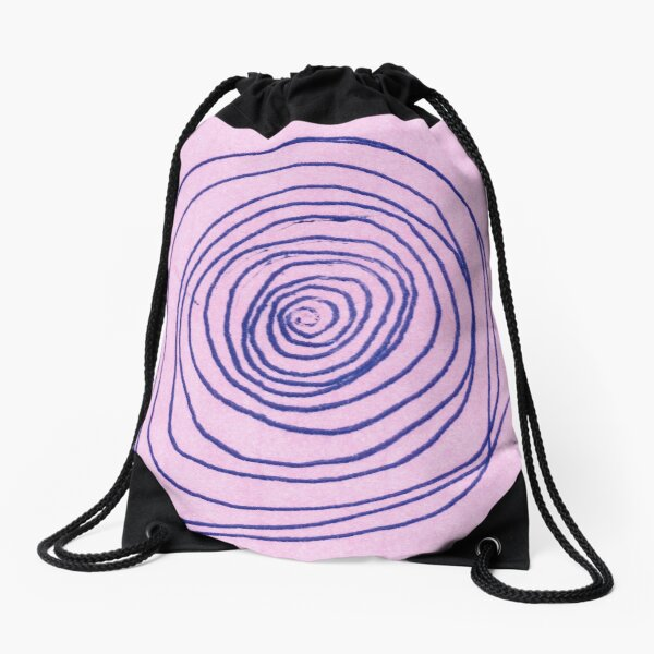 #illustration #pattern #abstract #chalkout #design #art #vector #spiral #symbol #shape #scribble #circle #nopeople #inarow #textured #oldfashioned #retrostyle #square Drawstring Bag