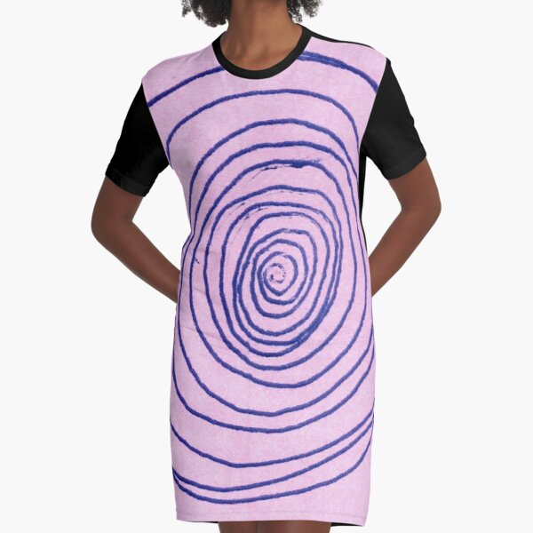 #illustration #pattern #abstract #chalkout #design #art #vector #spiral #symbol #shape #scribble #circle #nopeople #inarow #textured #oldfashioned #retrostyle #square Graphic T-Shirt Dress
