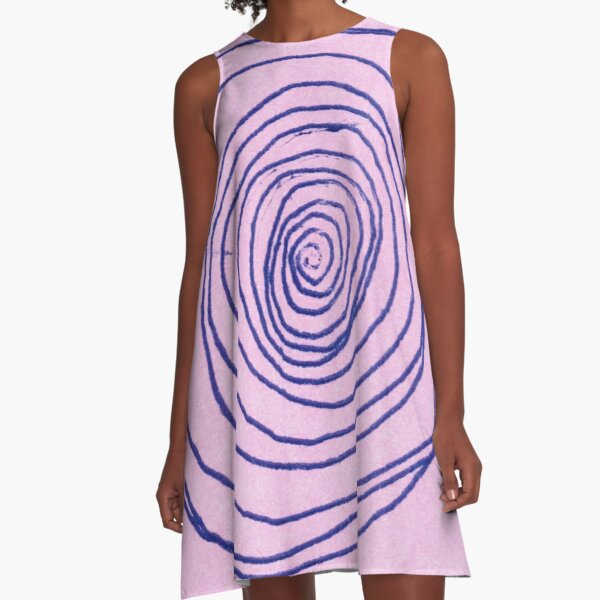 #illustration #pattern #abstract #chalkout #design #art #vector #spiral #symbol #shape #scribble #circle #nopeople #inarow #textured #oldfashioned #retrostyle #square A-Line Dress