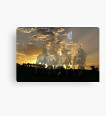 """At the going down of the Sun  and in the Morning """"WE WILL REMEMBER THEM"""" Canvas Print"""