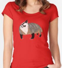 Western American Badger Women's Fitted Scoop T-Shirt