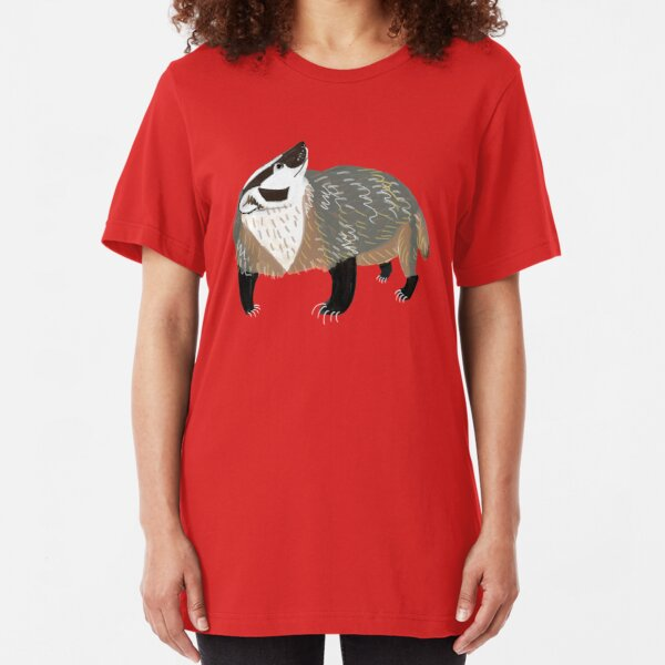 Western American Badger Camiseta ajustada